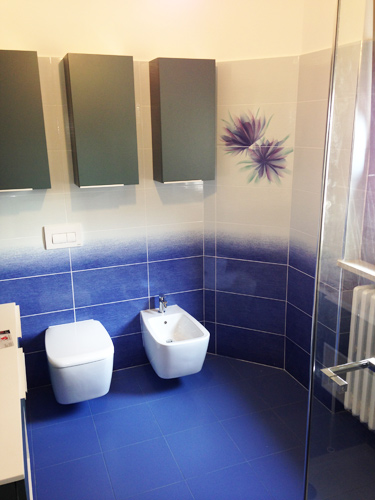 bagno-con-sfumature-in-due-colori-e-decoro-floreale